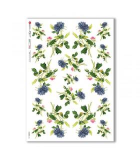 FLOWERS-0366. Papel de Arroz flores para decoupage.