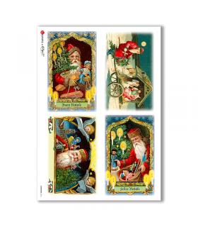 CHRISTMAS-0216. Papel de Arroz Navidad victoriano para decoupage.