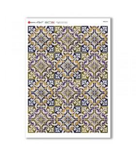 TILES-0046. Papel de Arroz azulejos para decoupage.