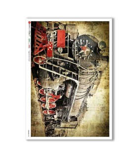 VEHICLES-0040. Carta di riso veicoli per decoupage.