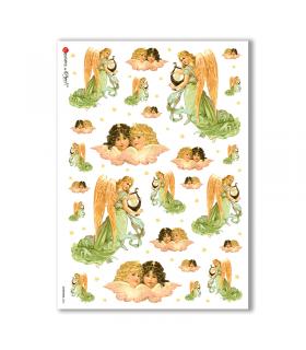 CHRISTMAS-0226. Carta di riso vittoriana Natale per decoupage.