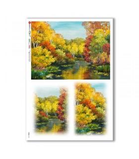VIEWS-0163. Carta di Riso paesaggi per decoupage