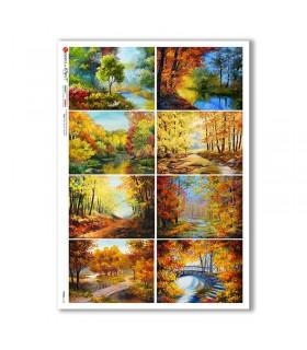 VIEWS-0164. Carta di Riso paesaggi per decoupage