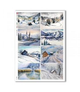 VIEWS-0168. Carta di Riso paesaggi per decoupage