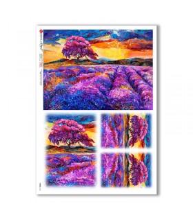 VIEWS-0170. Carta di Riso paesaggi per decoupage