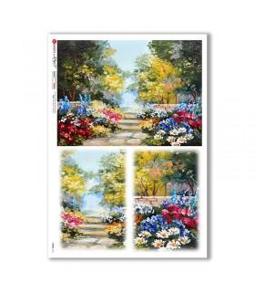 VIEWS-0171. Carta di Riso paesaggi per decoupage