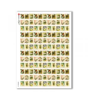 CHRISTMAS-0238. Carta di riso vittoriana Natale per decoupage.