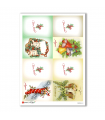 CHRISTMAS-0243. Carta di riso vittoriana Natale per decoupage.