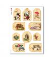CHRISTMAS_0256. Carta di riso vittoriana Natale per decoupage.