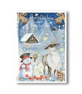 CHRISTMAS-0321. Christmas Rice Paper for decoupage.