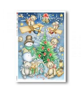 CHRISTMAS-0323. Christmas Rice Paper for decoupage.