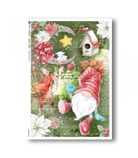 CHRISTMAS-0329. Christmas Rice Paper for decoupage.