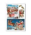 CHRISTMAS_0263. Carta di riso vittoriana Natale per decoupage.
