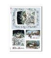 CHRISTMAS_0266. Carta di riso vittoriana Natale per decoupage.