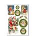 CHRISTMAS_0267. Carta di riso vittoriana Natale per decoupage.