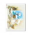 CHRISTMAS_0273. Carta di riso vittoriana Natale per decoupage.