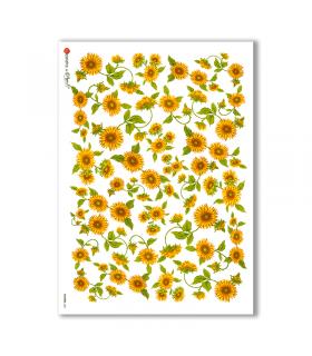 FLOWERS-0001. Papel de Arroz flores para decoupage.