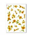 FLOWERS-0002. Papel de Arroz flores para decoupage.