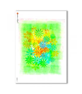 FLOWERS-0018. Carta di riso fiori per decoupage.