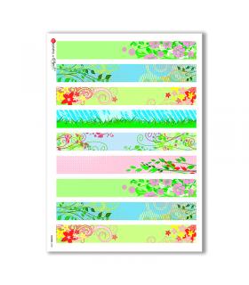 FLOWERS-0028. Carta di riso fiori per decoupage.