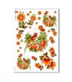 FLOWERS-0030. Carta di riso fiori per decoupage.