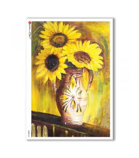 FLOWERS-0045. Carta di riso fiori per decoupage.