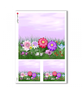FLOWERS-0047. Carta di riso fiori per decoupage.