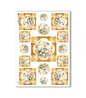 FLOWERS-0049. Carta di riso fiori per decoupage.
