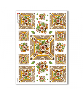 FLOWERS-0050. Carta di riso fiori per decoupage.