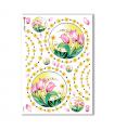 FLOWERS-0066. Carta di riso fiori per decoupage.