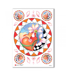 FLOWERS-0071. Carta di riso fiori per decoupage.
