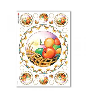 FLOWERS-0073. Carta di riso fiori per decoupage.