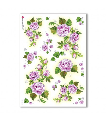 Flowers Rice Paper For Decoupage