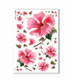 FLOWERS-0079. Carta di riso fiori per decoupage.