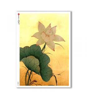 FLOWERS-0086. Carta di riso fiori per decoupage.