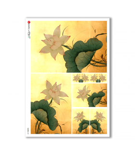 FLOWERS-0087. Carta di riso fiori per decoupage.