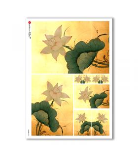 FLOWERS-0087. Papel de Arroz flores para decoupage.