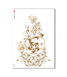 FLOWERS-0089. Carta di riso fiori per decoupage.