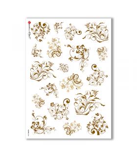 FLOWERS-0091. Carta di riso fiori per decoupage.