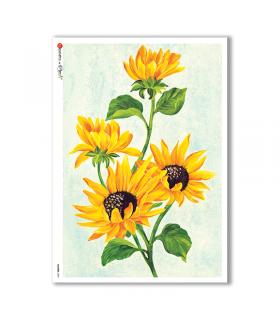 FLOWERS-0092. Papel de Arroz flores para decoupage.