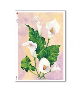 FLOWERS-0093. Papel de Arroz flores para decoupage.