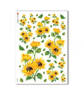 FLOWERS-0094. Papel de Arroz flores para decoupage.