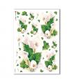 FLOWERS-0095. Carta di riso fiori per decoupage.