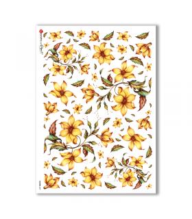 FLOWERS-0097. Carta di riso fiori per decoupage.