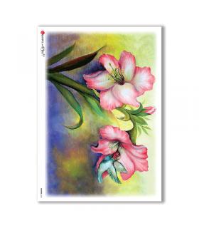 FLOWERS-0104. Carta di riso fiori per decoupage.