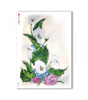 FLOWERS-0108. Papel de Arroz flores para decoupage.