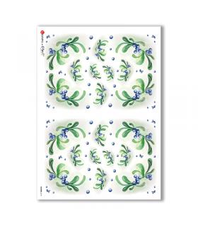 FLOWERS-0113. Carta di riso fiori per decoupage.
