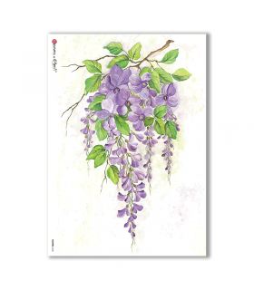 FLOWERS-0122. Carta di riso fiori per decoupage.