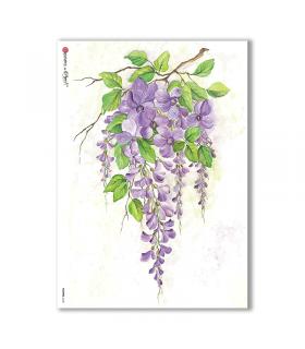 FLOWERS-0122. Papel de Arroz flores para decoupage.