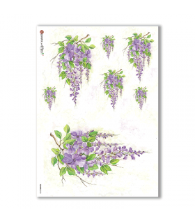 FLOWERS-0123. Carta di riso fiori per decoupage.
